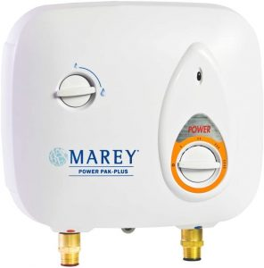 Marey Power Pak Plus Tankless Electric Water Heater, 220 VOLT (Best Budget)