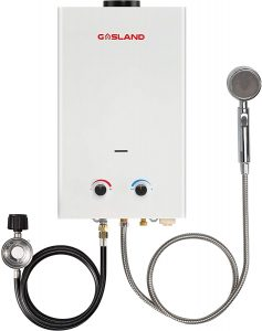 Tankless Water Heater, GASLAND Outdoors Propane Water Heater 10L BS264 2.64GPM