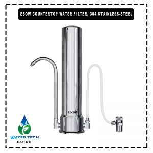 ESOW Countertop Water Filter, 304 Stainless-Steel
